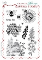 Honey Bee Unmmounted Stamp Sheet - A5