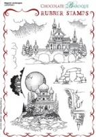 Magical Landscapes Rubber stamp sheet - A5