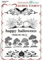 Halloween Edges Rubber stamp sheet - A5
