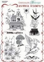 Book of Spells Rubber stamp sheet - A5