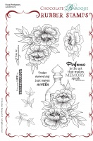 Floral Perfumery Rubber Stamp sheet - A5