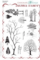 Trees a Crowd Rubber Stamp sheet - A5