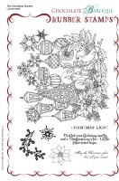 The Christmas Garden Rubber Stamp sheet - A5