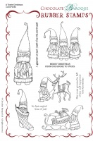 A Tomte Christmas Rubber Stamp sheet - A5