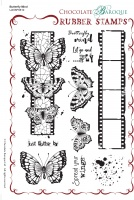Butterfly Mind Rubber Stamp sheet - A5
