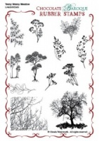 Teeny Weeny Meadow Rubber stamp sheet - A6