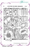 Poppy Ledger unmounted rubber stamp set - A6