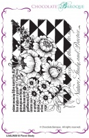 Floral Study unmounted rubber stamp set - A6