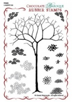 Glade Design a Tree Rubber stamp sheet - A6