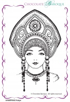 Katya Single Rubber stamp  - A6