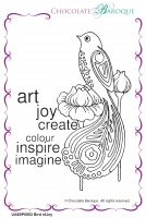 Bird of Joy individual unmounted rubber stamp  - A6