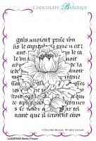 Medici Flower individual unmounted rubber stamp  - A6