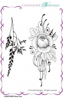 Rose Duo unmounted rubber stamp set  - A6