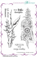 Blossom and Grow unmounted rubber stamp sheet  - A6