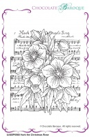 Hark the Christmas Rose individual unmounted rubber stamp  - A6