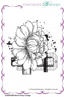 Movie Strip Collage individual unmounted rubber stamp  - A6