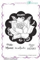 Shared Beauty unmounted rubber stamp set - A6