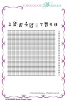 Small Graph Paper Rubber Stamp sheet - Chocolate Block