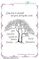 Remembrance Tree Rubber Stamp sheet - Chocolate Block