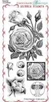 Rose Set Rubber Stamp Sheet - DL