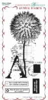 Alium Collage Rubber Stamp sheet - DL