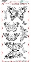 Just Butterflies Rubber Stamp Sheet - DL