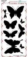 Butterfly Blush Rubber Stamp Sheet - DL