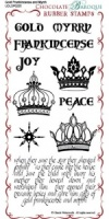 Gold, Frankincense, Myrrh Rubber Stamp Sheet - DL