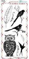 Wise Owl Rubber Stamp Sheet - DL