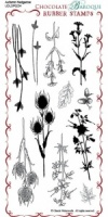 Autumn Hedgerow Rubber Stamp Sheet - DL