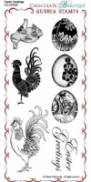 Easter Greetings Rubber Stamp Sheet - DL