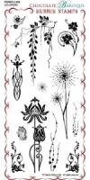 Wisteria Lane Rubber Stamp sheet - DL