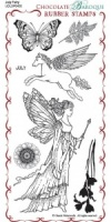 July Fairy Rubber Stamp sheet - DL