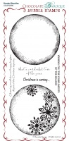 Shaded Baubles Rubber Stamp sheet - DL