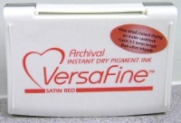 Versafine inkpad Satin Red