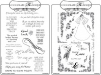 Wedding Belle/Words of Comfort & Cheer Rubber stamp Multi-buy - A5