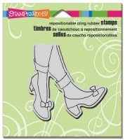 Stampendous Cling Rubber Stamp - Amazing Shoes