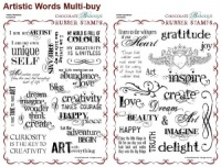 Artistic Affirmations/Artistic Expressions Rubber stamps Multi-buy - A4