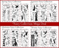 Fairy Collection - Spring/Summer/Autum/Winter Fairy stamps Multi-buy - DL