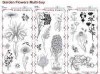 Hyacinth, Lily and Fuchsia Rubber Stamps Multi-buy - DL