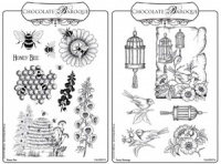 Honey Bee/Pretty Birdcage Rubber stamps Multi-buy - A5