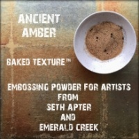 Seth Apter Baked Texture Embossing Powder - Ancient Amber