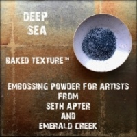 Seth Apter Baked Texture Embossing Powder - Deep Sea