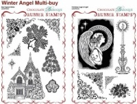 Christmas Angel of Light/New England Winter Rubber stamps Multi-buy - A5
